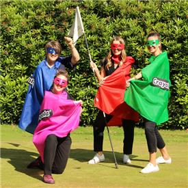 England Golf's super-heroes raise £2500 for Macmillan