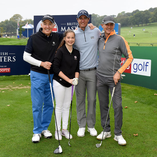 England Golf trio have dream outing with Ryder Cup star