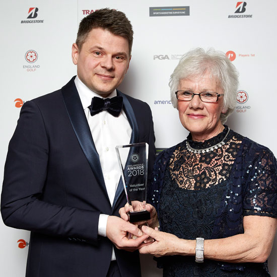 Jean is England Golf's Volunteer of the Year