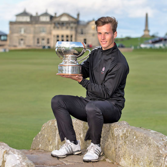 Matthew Jordan credit Kenny Smith St Andrews Links Trophy