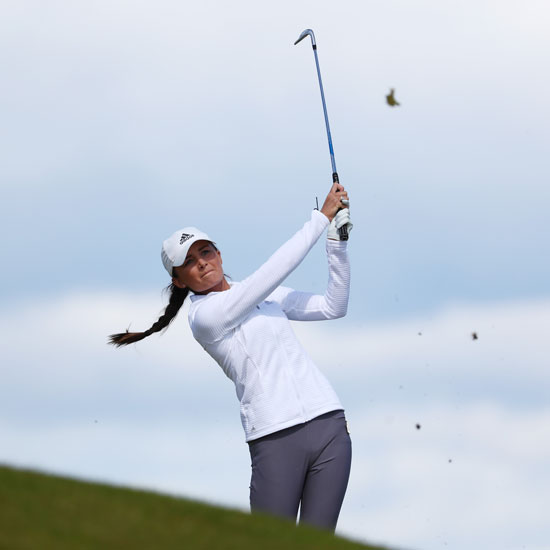 Sophie is leading amateur at Women's British Open