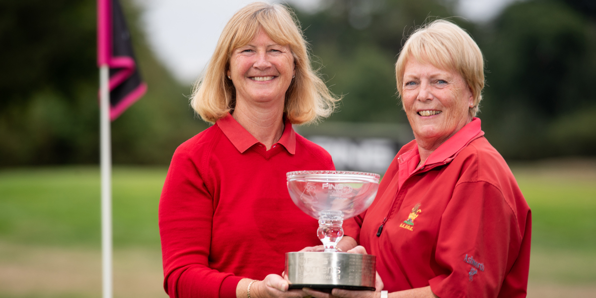 The PING Women's Fourball Betterball winners Linda Woods and Pauline Nash