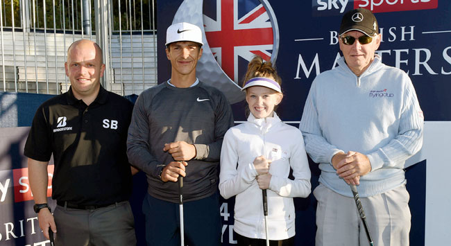 Bridgestone winners in dream round with Ryder Cup hero!
