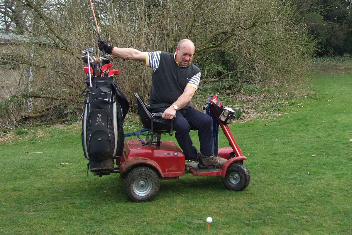 Wheelchair golfer Terry is set to make history