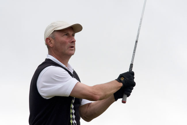 Attoe leads English Seniors on five-under