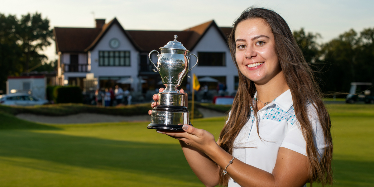 Earl claims first international title at English Women's Open Stroke Play