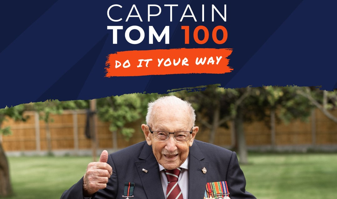 Golfers quick to tee up 'Captain Tom 100' challenges