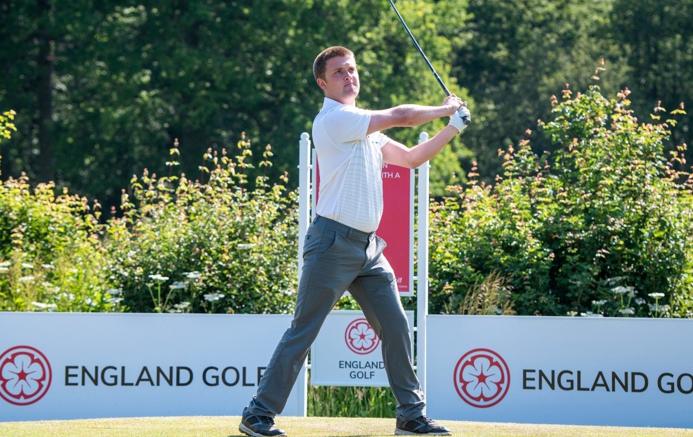 Kipp lets rip to lead English Open for Golfers with a Disability