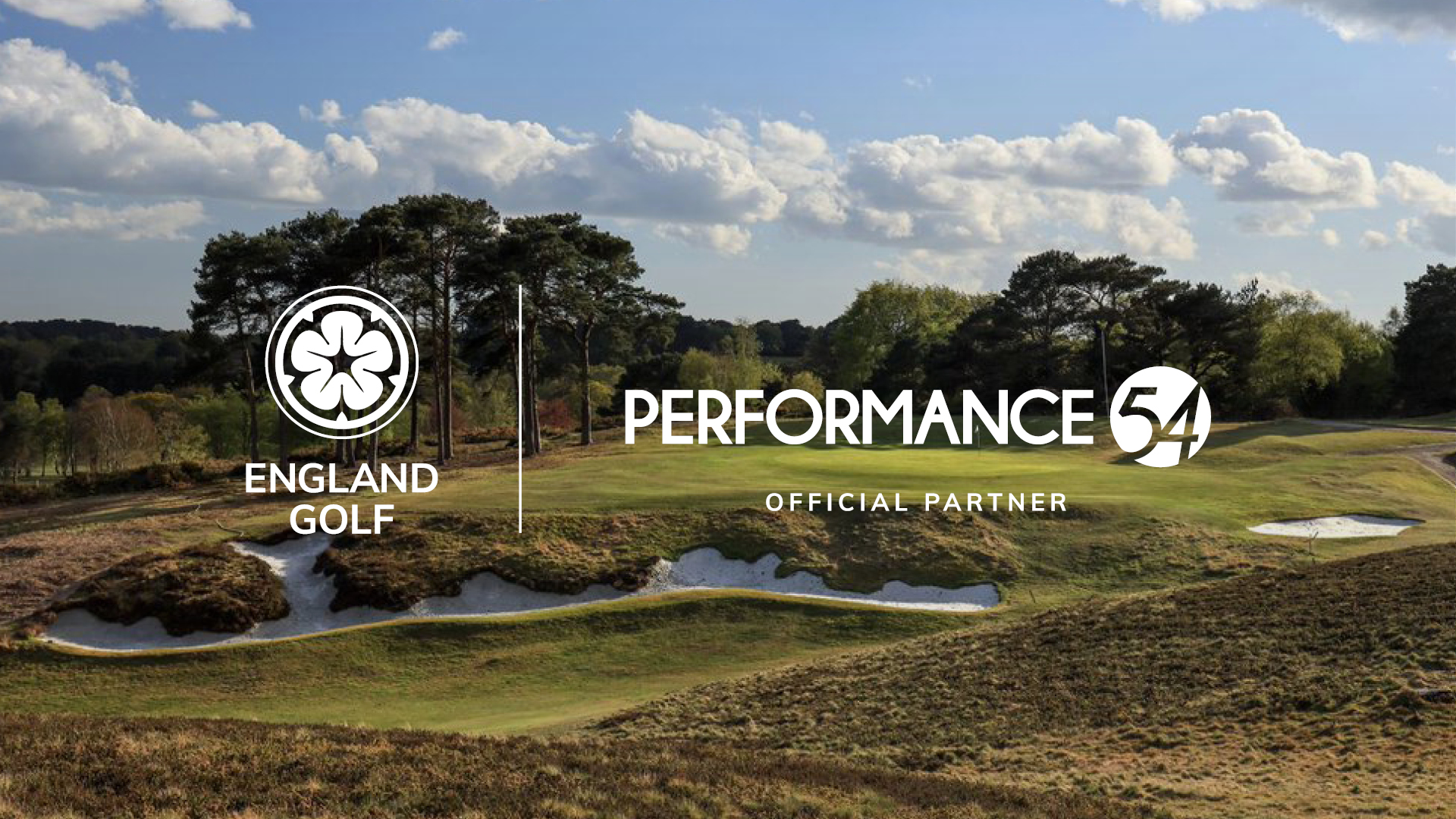 England Golf welcomes Performance54 as official partner
